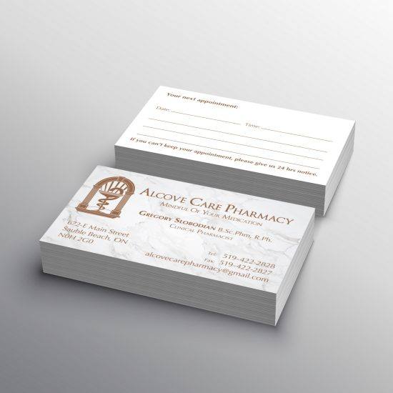 Alcove Pharmacy Business Cards