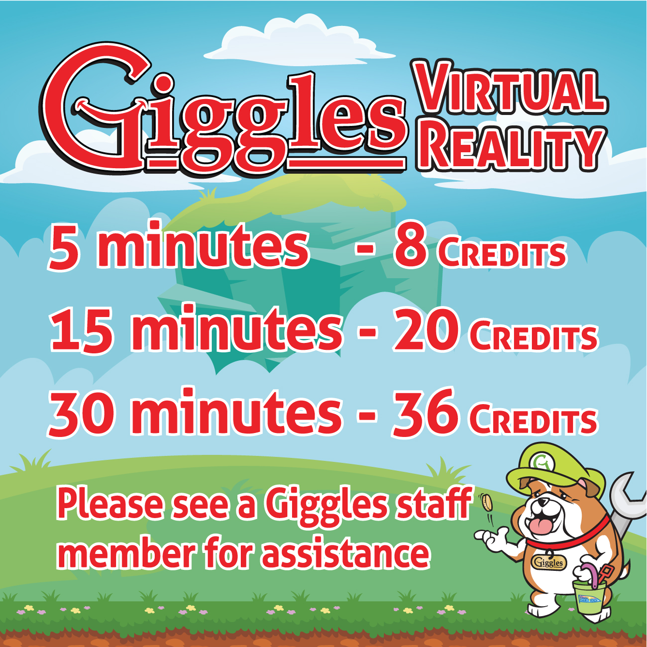 Giggles arcade virtual reality banners