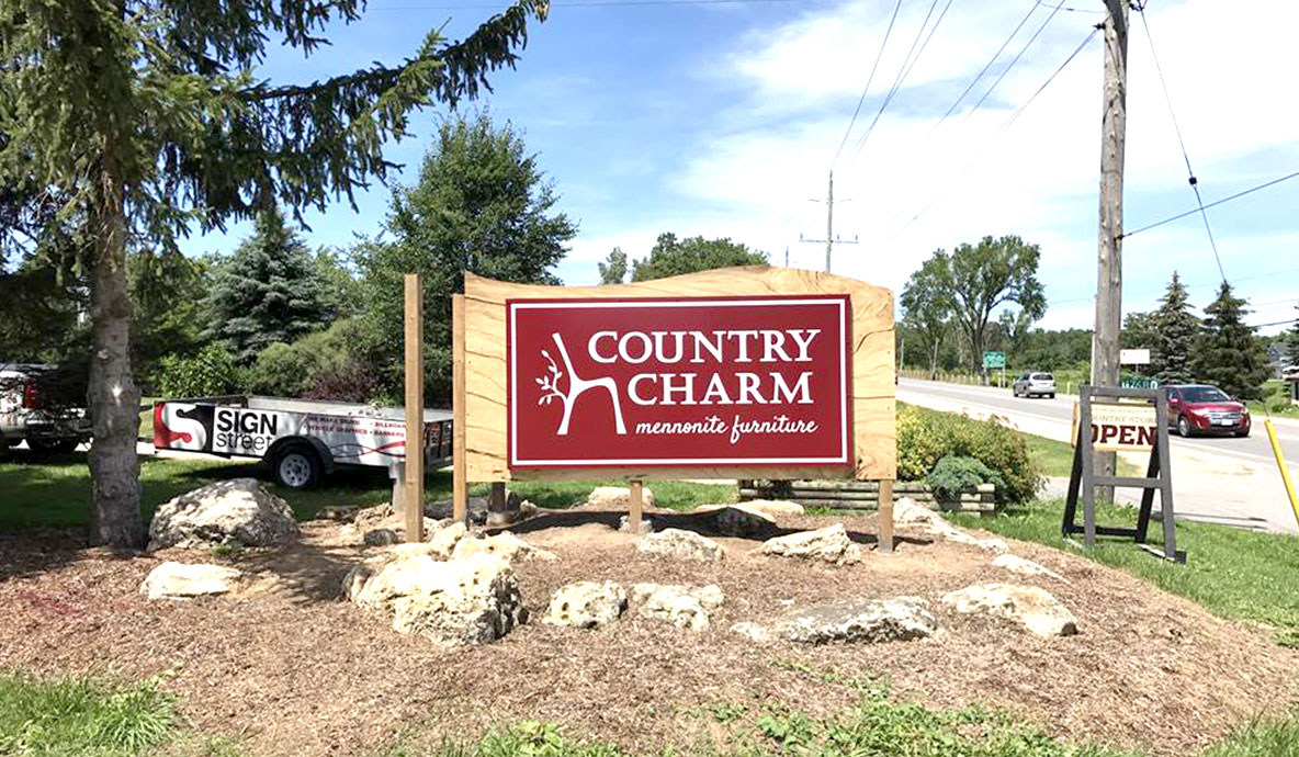 Country Charm Outdoor Sign