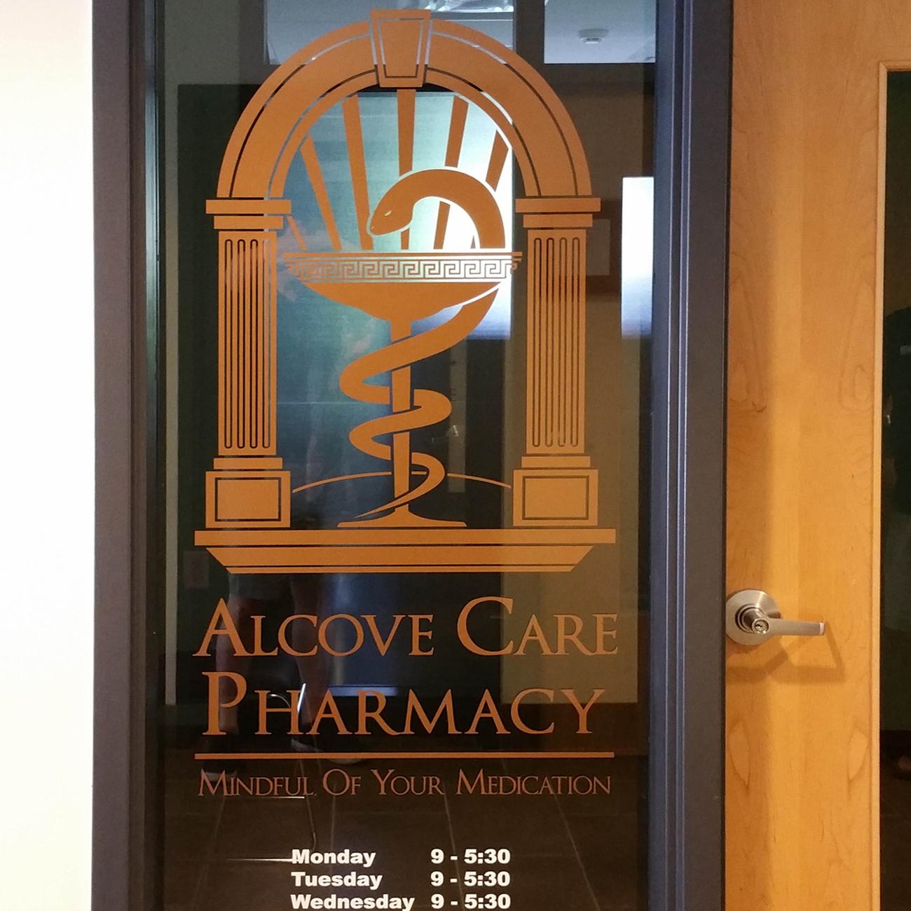 Alcove Pharmacy Window Graphics