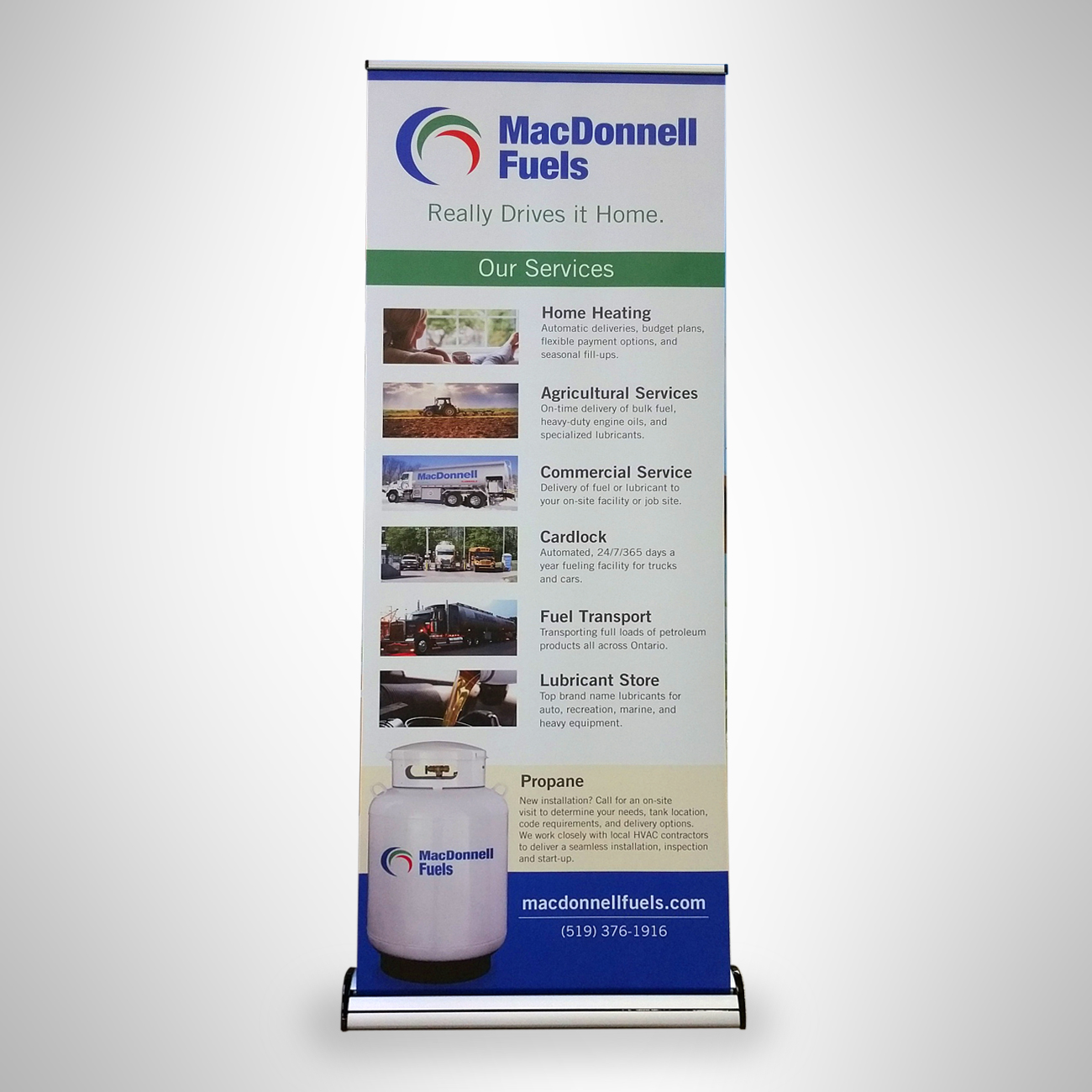 MacDonnell Fuels pull-up banner
