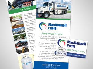 MacDonnell Fuels Rack Card and Magnet