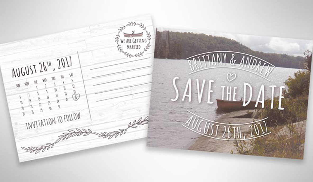Wedding Save the Date design