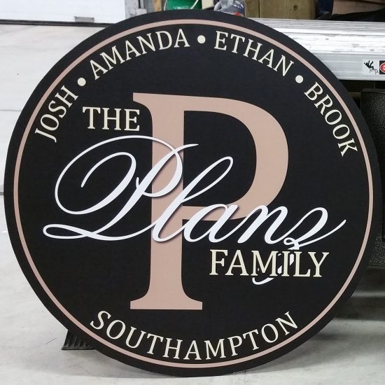 Planz family sign