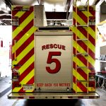 Fire truck reflective decals