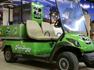 Triple bogey golf cart