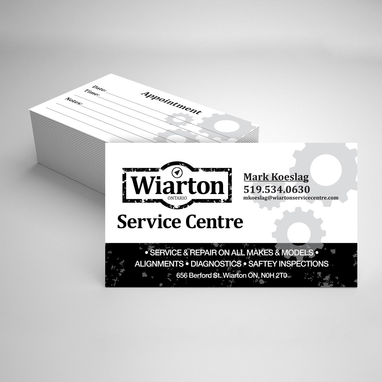 Wiarton Service Centre business cards