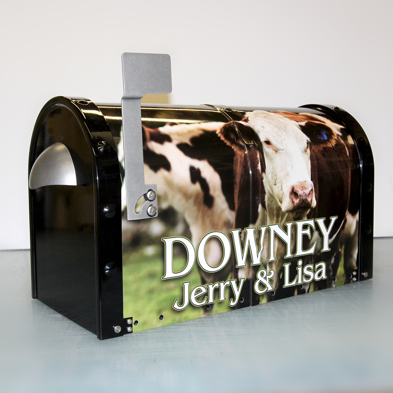 Downey Mailbox wrap with design