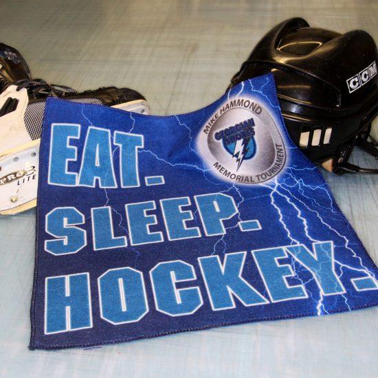 Georgian Shores Mike Hammond Memorial Hockey Tournament towels