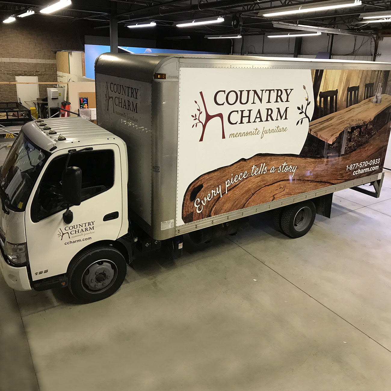 Furniture Delivered: Country Charm Mennonite Furniture Delivery Truck