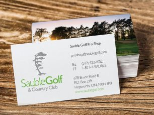 Sauble Golf & Country Club Business Cards