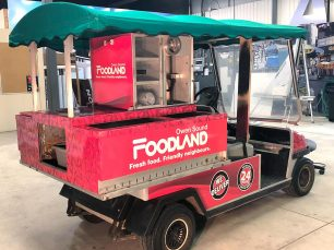 Legacy Ridge Foodland golf cart wrap