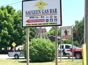 Saugeen Gas Bar Pylon Sign