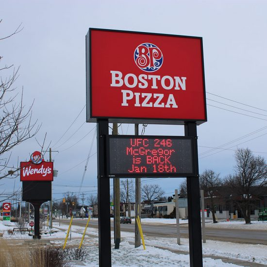 Boston Pizza Digital Signage Port Elgin