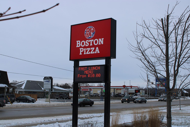 Boston Pizza Digital Signage Port Elgin