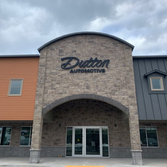Dutton Automotive Building Signage