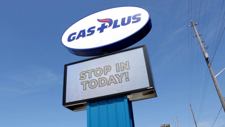 Gas Plus Exterior Road Sign