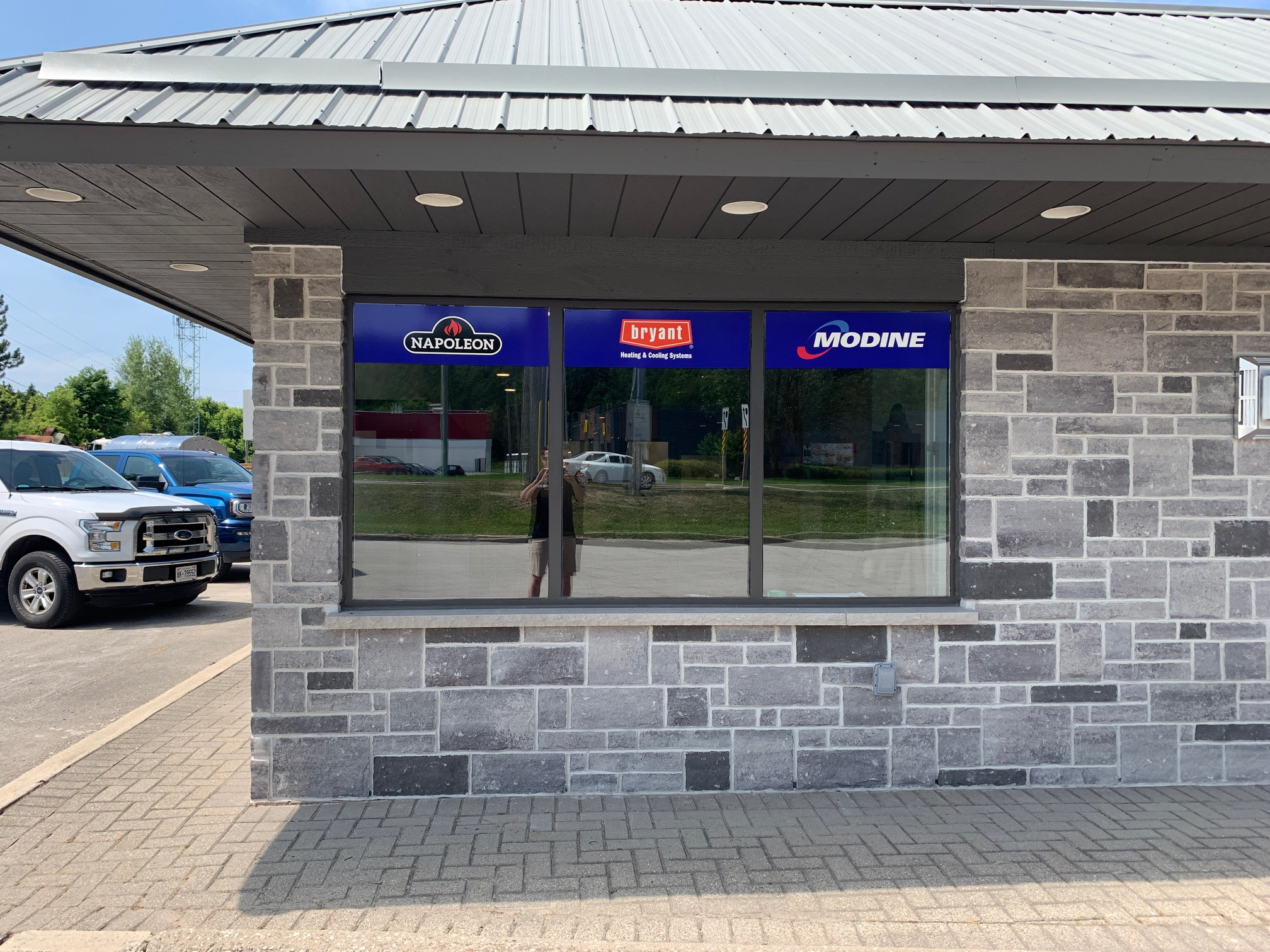 Gas Plus Exterior Window Signage