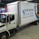 Locking Business Furnishings Truck Signage