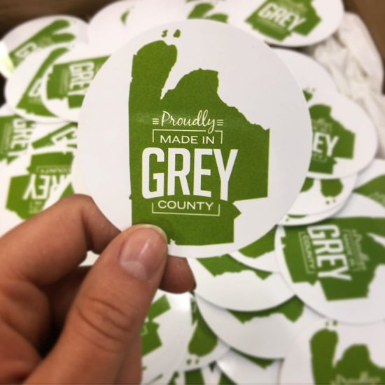 Made in Grey Stickers
