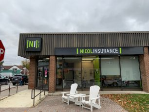 Nicol Insurance Building Signage Port Elgin