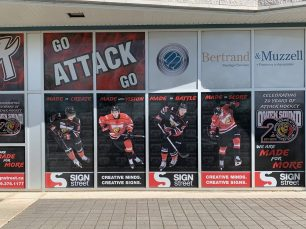 Owen Sound Attack Window Signs