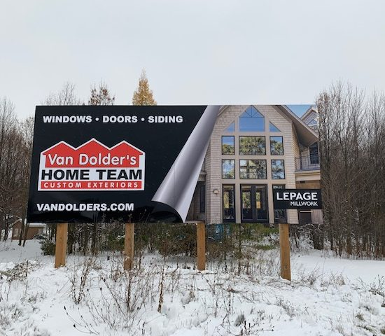 Van Dolder's Home Team Custom Exteriors Billboard